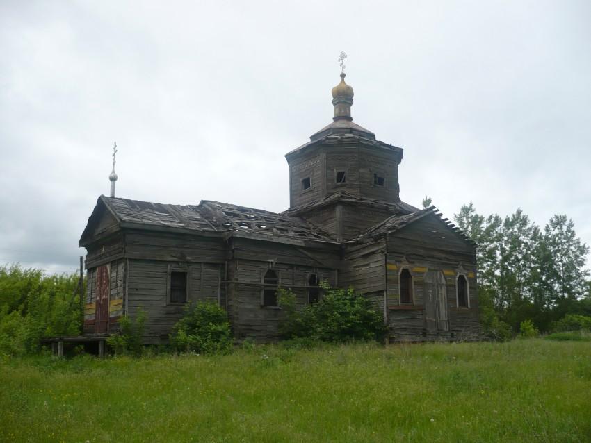 Курская область, Обоянский район, Нижнее Бабино. Церковь Афанасия Великого, фотография. общий вид в ландшафте