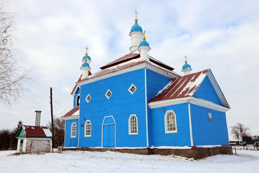 Курская область, Обоянский район, Трубеж. Церковь Михаила Архангела, фотография. фасады
