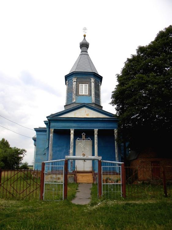 Курская область, Обоянский район, Полукотельниково. Церковь Илии Пророка, фотография. фасады