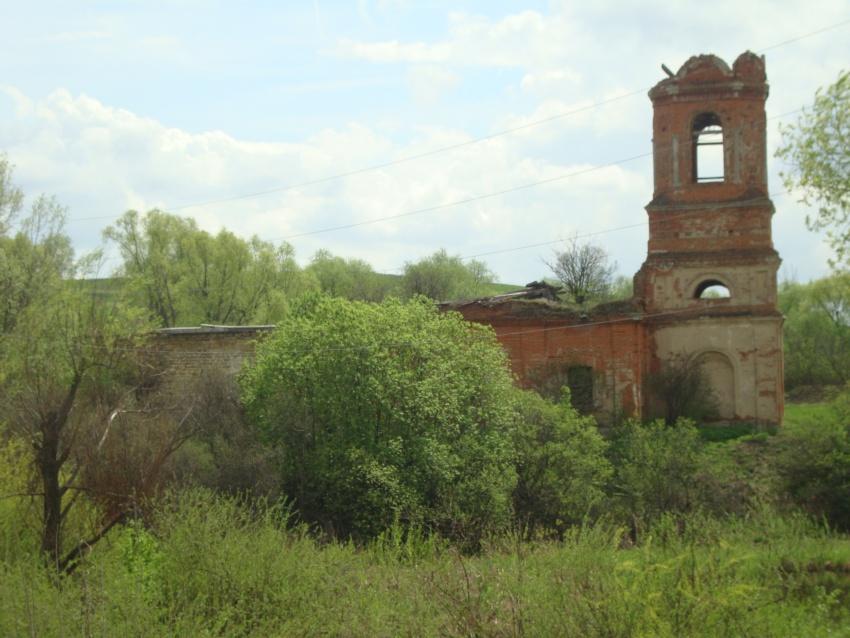 Тульская область, Ефремов, город, Ключевое (Замарайка). Церковь Александра Свирского, фотография. общий вид в ландшафте