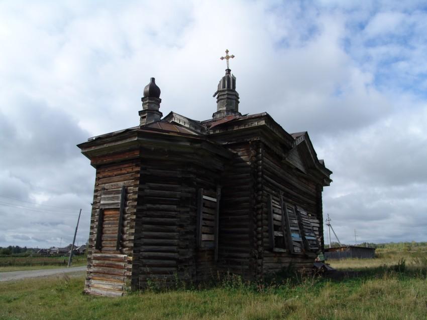 Тюменская область, Вагайский район, Сычево. Церковь Александра Невского, фотография. фасады