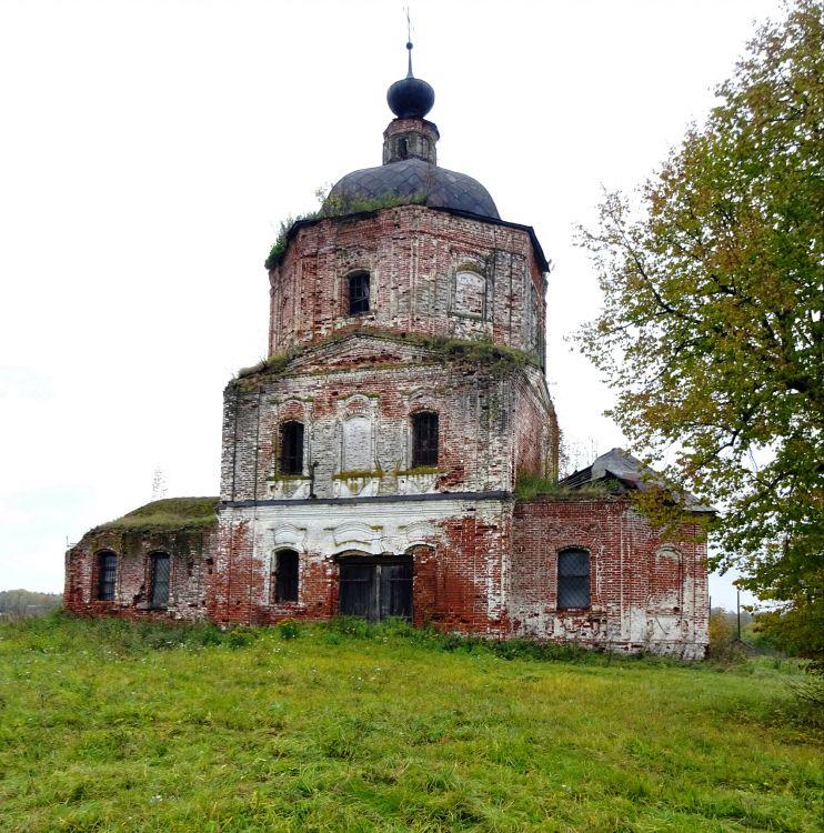 Ивановская область, Гаврилово-Посадский район, Лобцово. Церковь Димитрия Солунского, фотография.