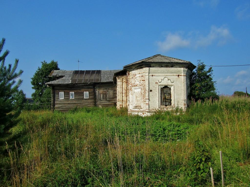 Вологодская область, Тотемский район, Коченга (Коченьга). Церковь Спаса Преображения, фотография. фасады, вид с востока