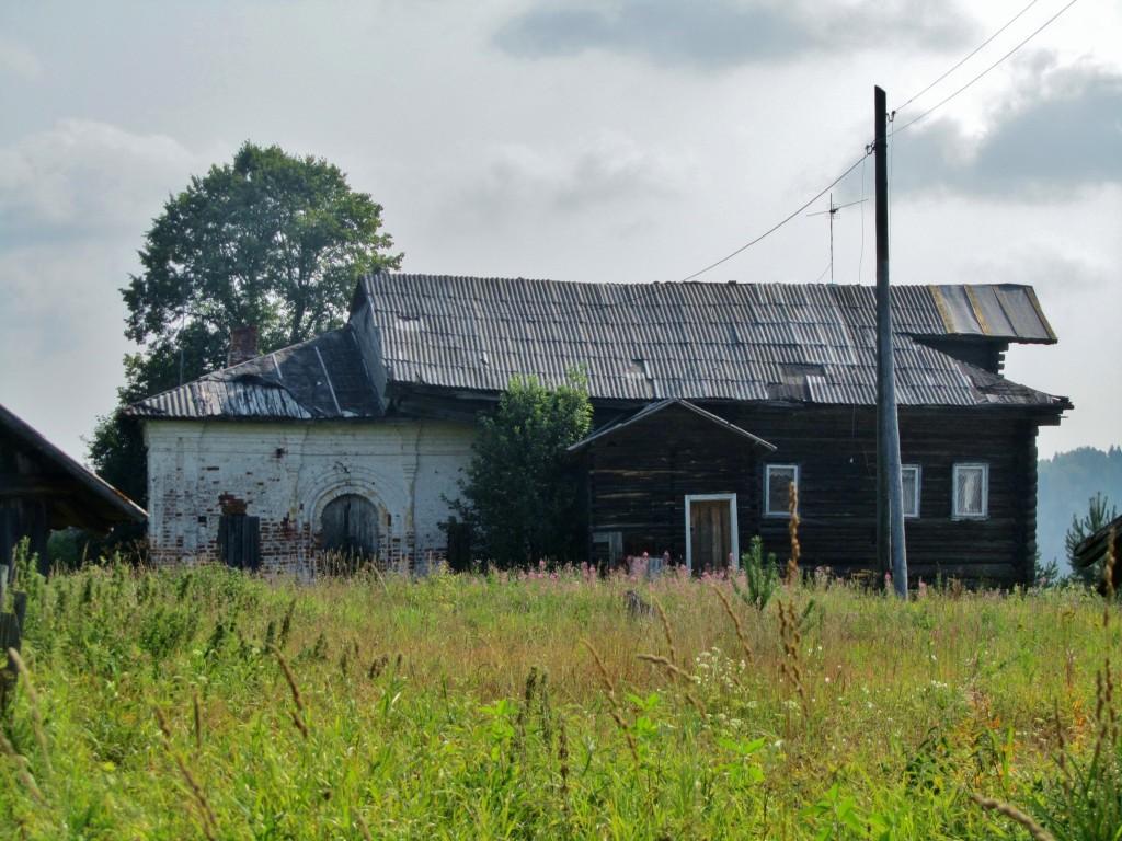 Вологодская область, Тотемский район, Коченга (Коченьга). Церковь Спаса Преображения, фотография. фасады, вид с запада