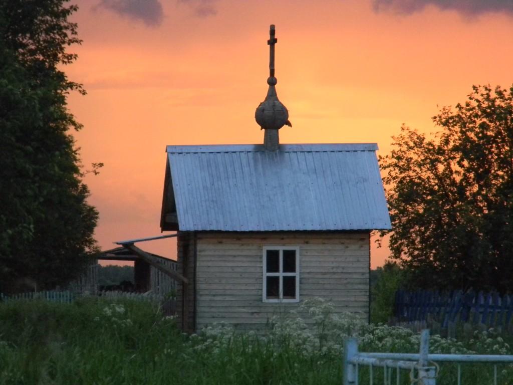 Архангельская область, Онежский район, Пияла. Неизвестная часовня, фотография. фасады