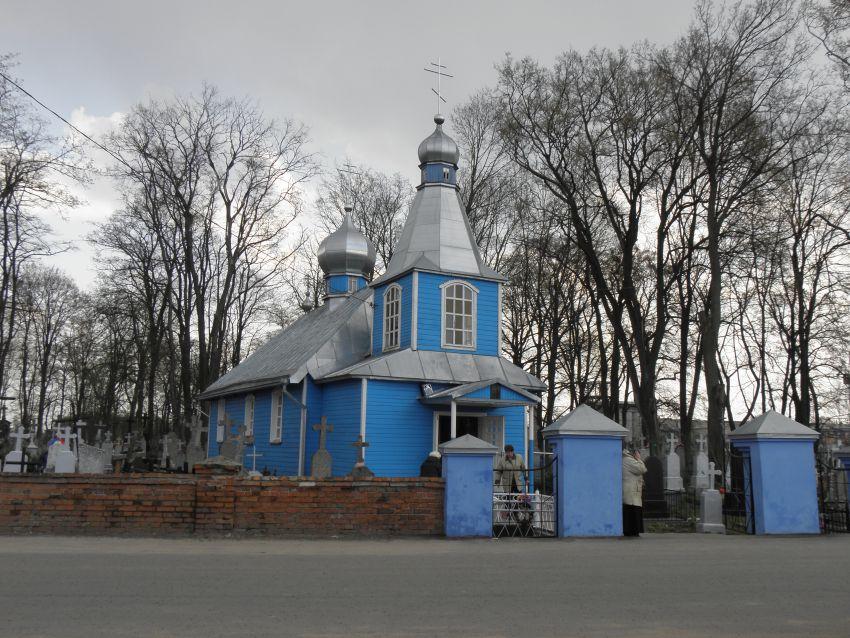 Беларусь, Брестская область, Кобринский район, Кобрин. Церковь Георгия Победоносца, фотография. общий вид в ландшафте