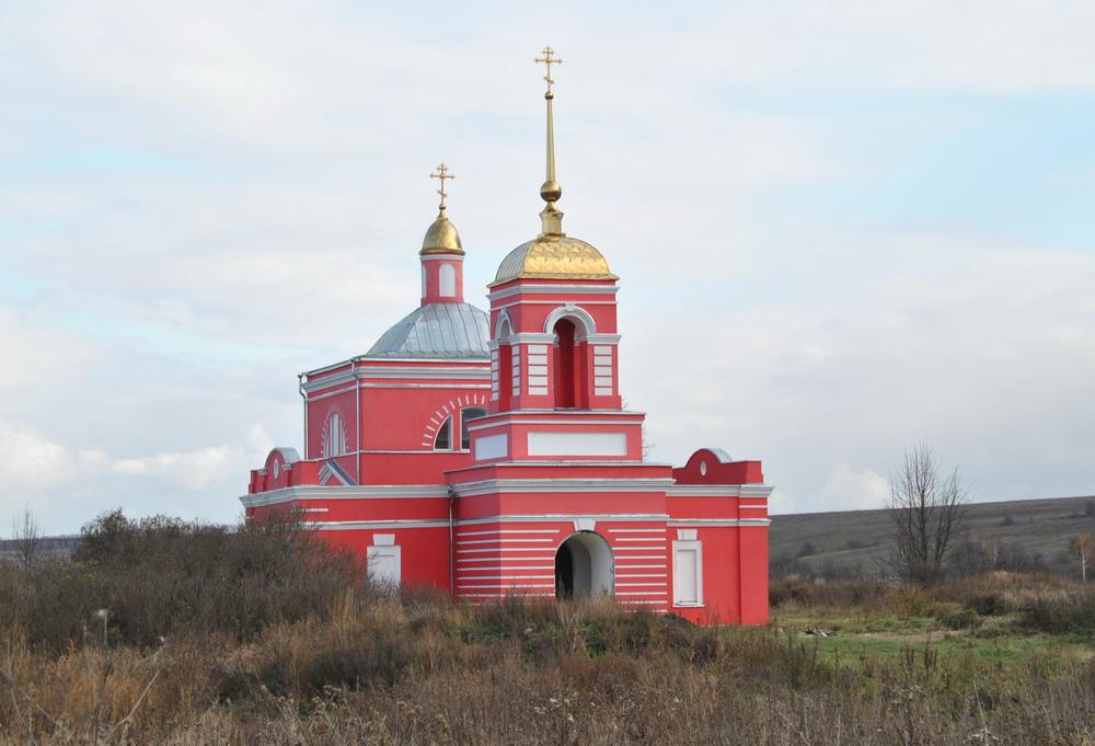 Тульская область, Ефремов, город, Хомяково. Церковь Михаила Архангела, фотография. фасады