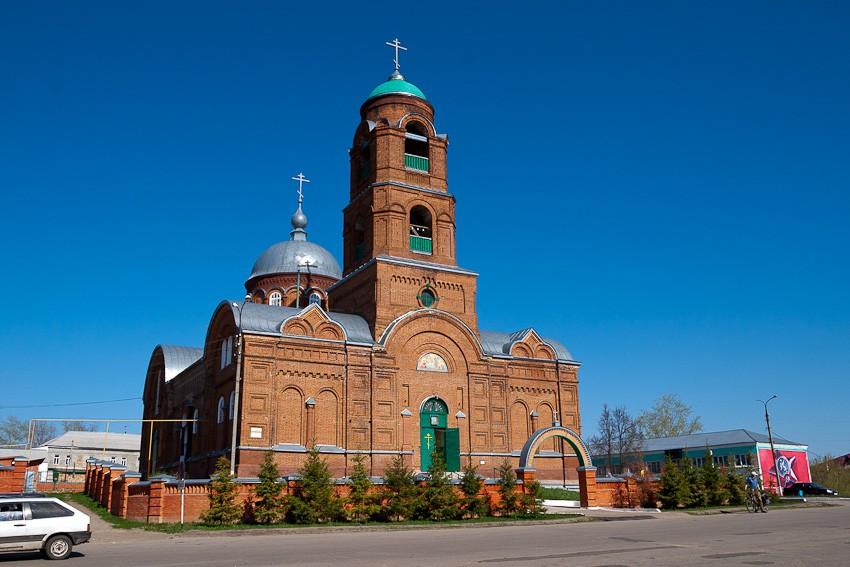 Пензенская область, Мокшанский район, Мокшан. Церковь Богоявления  Господня, фотография. фасады