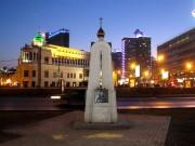 Часовенный столб в память церкви Бориса и Глеба на Арбатской площади - Москва - Центральный административный округ (ЦАО) - г. Москва