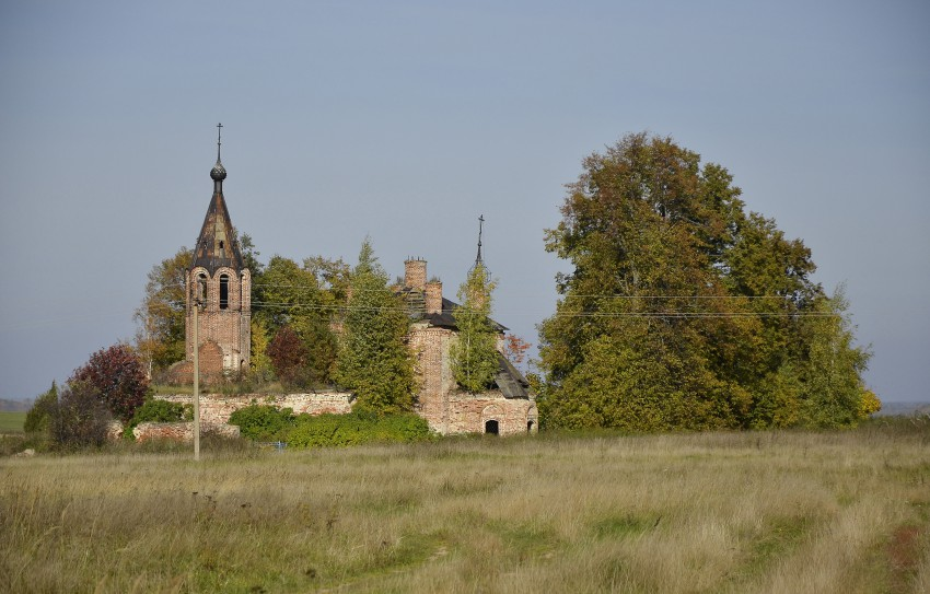 Церковь Флора и Лавра на Фроловском погосте-Фролы, урочище-Нерехтский район-Костромская область