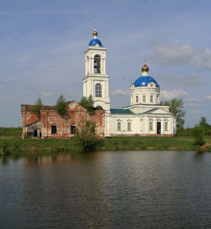Ивановская область, Гаврилово-Посадский район, Бородино. Церковь Михаила Архангела, фотография.