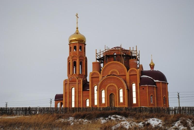 Республика Хакасия, Ширинский район, Жемчужный. Церковь Пантелеимона Целителя (новая), фотография. фасады