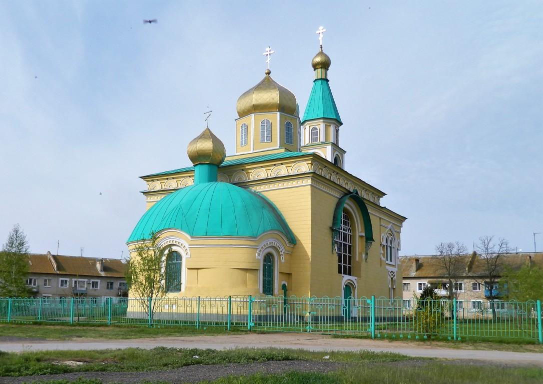 Волгоградская область, Светлоярский район, Дубовый Овраг. Церковь Никиты мученика, фотография. фасады