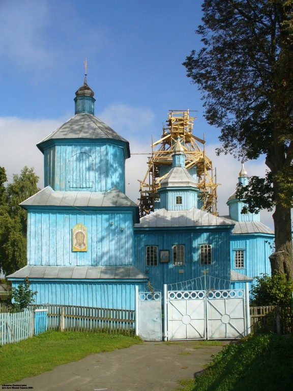Беларусь, Брестская область, Столинский район, Велемичи. Церковь Илии Пророка, фотография.