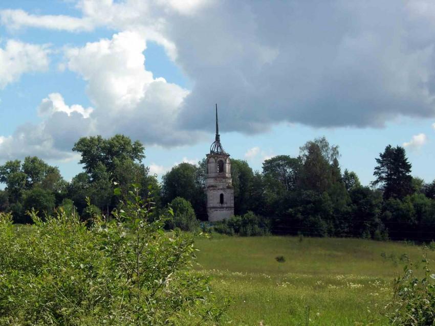 Вологодская область, Вологодский район, Лумба. Церковь Николая Чудотворца, фотография. общий вид в ландшафте