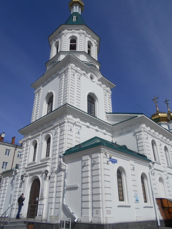 Омская область, Омск, город, Омск. Собор Воскресения Христова (воссозданный), фотография. фасады
