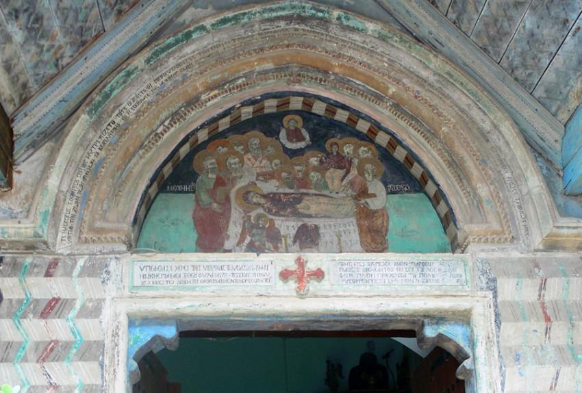 Кипр, Пафос, Пано Панагия. Монастырь Панагии Хрисороятиссы, фотография. архитектурные детали, Фреска