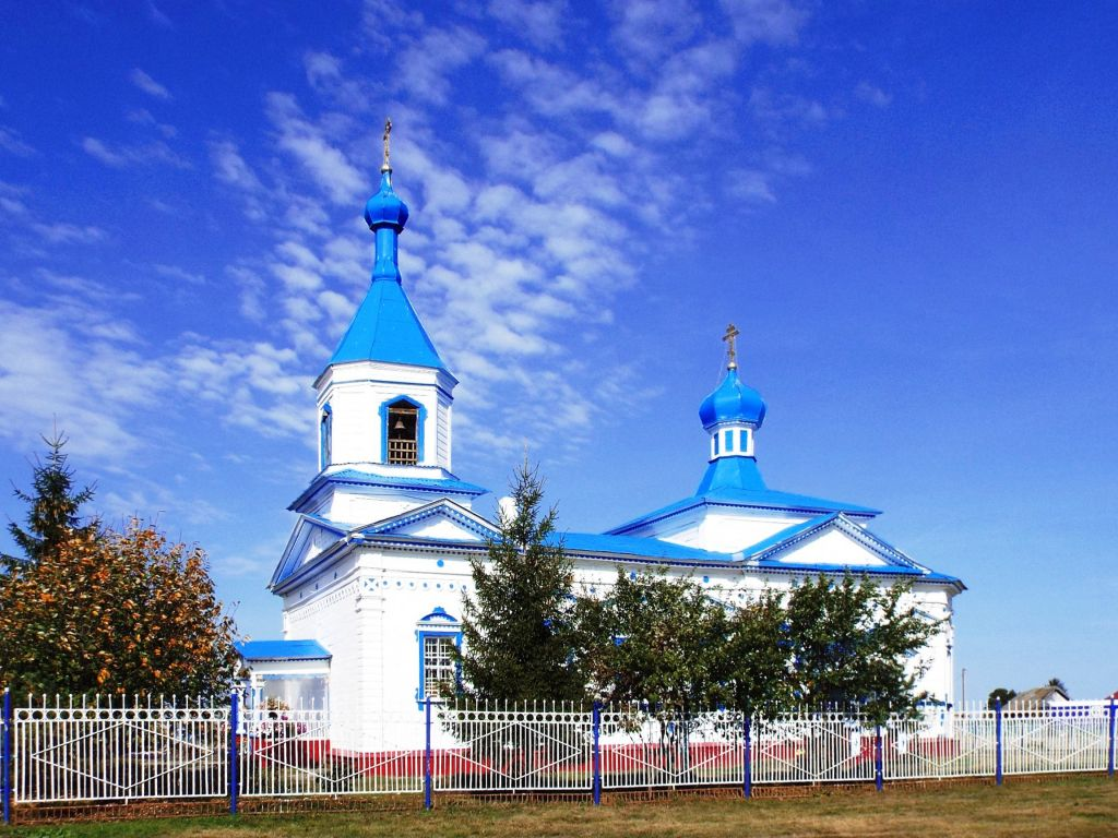 Республика Татарстан, Нурлатский район, Биляр-Озеро. Церковь Спаса Преображения, фотография. фасады