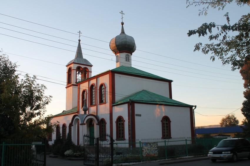 Казахстан, Алматинская область, Талдыкорган (Гавриловское). Собор Иоанна Богослова, фотография. общий вид в ландшафте