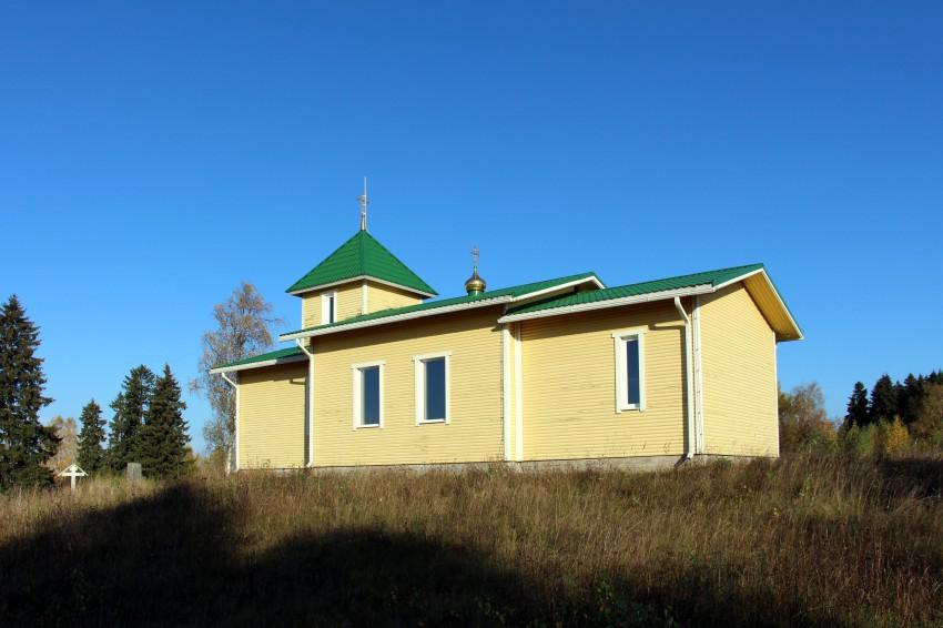 Республика Карелия, Сортавальский район, Вяртсиля. Церковь Александра Невского, фотография. общий вид в ландшафте