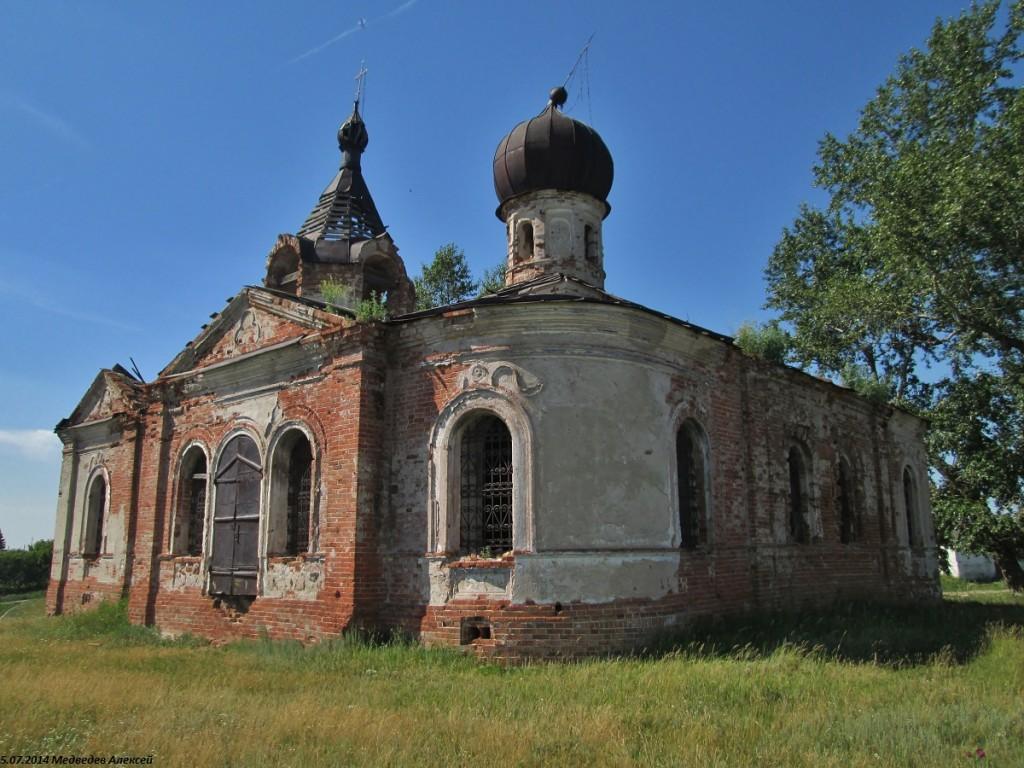 Курганская область, Мишкинский район, Шаламово. Церковь Иоанна Предтечи, фотография. фасады