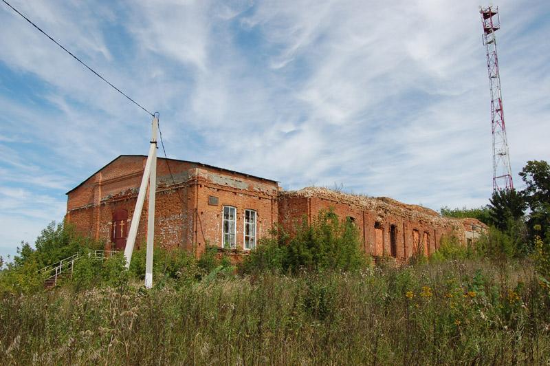 Орловская область, Колпнянский район, Фошня. Церковь Богоявления Господня, фотография. общий вид в ландшафте