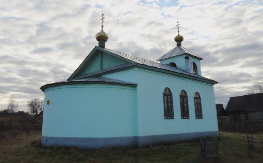 Нижегородская область, Навашинский район, Левино. Церковь Сергия Радонежского, фотография. фасады