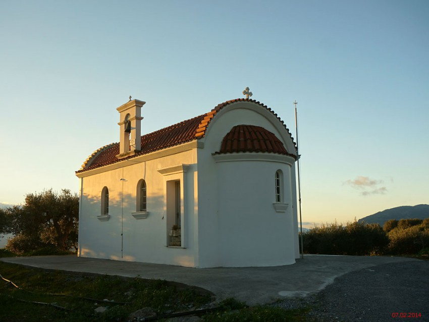 Греция, Крит (Κρήτη), Худетси. Неизвестная церковь, фотография. фасады