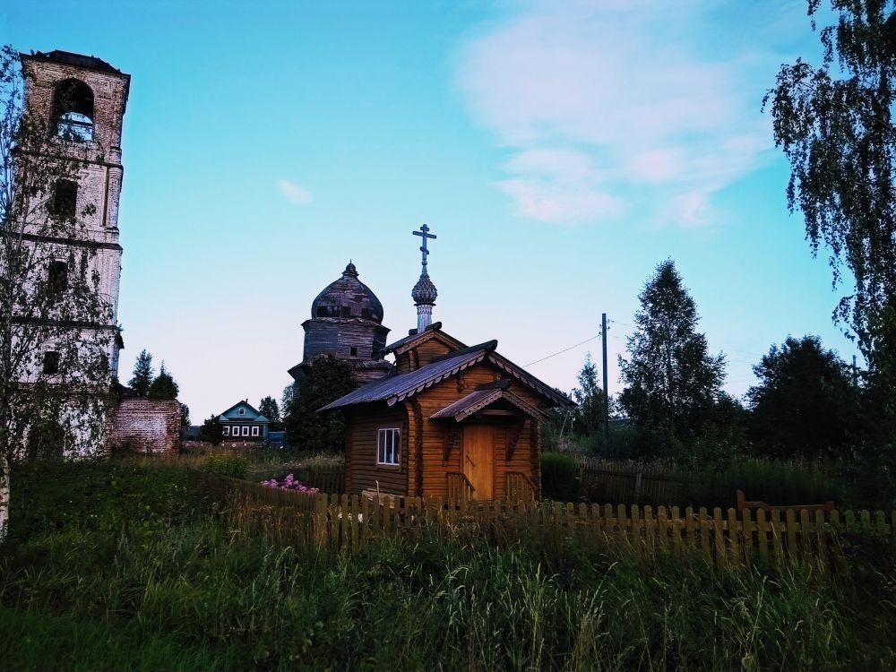Вологодская область, Вашкинский район, Ухтома. Часовня Александра Невского, фотография.