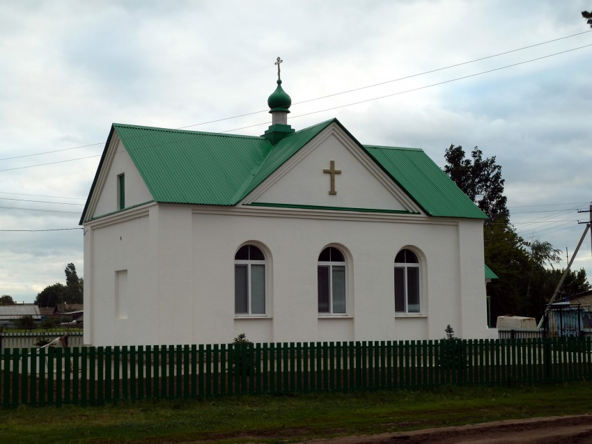 Самарская область, Приволжский район, Заволжье. Церковь Богоявления Господня, фотография. общий вид в ландшафте