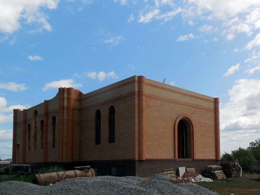 Республика Татарстан, Нурлатский район, Егоркино. Церковь Михаила Архангела (строящаяся), фотография. фасады