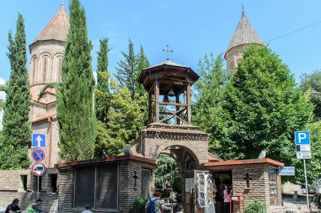Грузия, Тбилиси, город, Тбилиси. Церковь Святого Креста, фотография. фасады