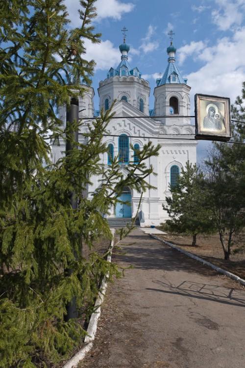 Тамбовская область, Бондарский район, Пахотный Угол. Церковь Богоявления Господня, фотография. фасады