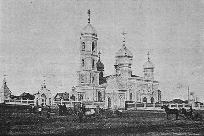 Самарская область, Самара, город, Самара. Церковь Илии Пророка на Ильинской площади, фотография. архивная фотография, Фотография приблизительно 1900 года. Источник - сайт