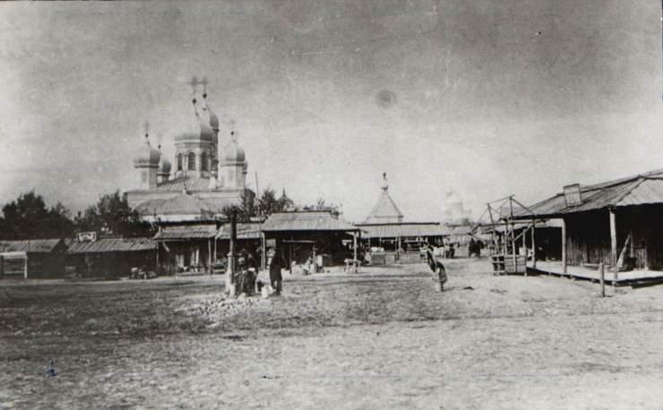 Самарская область, Самара, город, Самара. Церковь Илии Пророка на Ильинской площади, фотография. архивная фотография, Фотография приблизительно 1910 года. Источник - сайт
