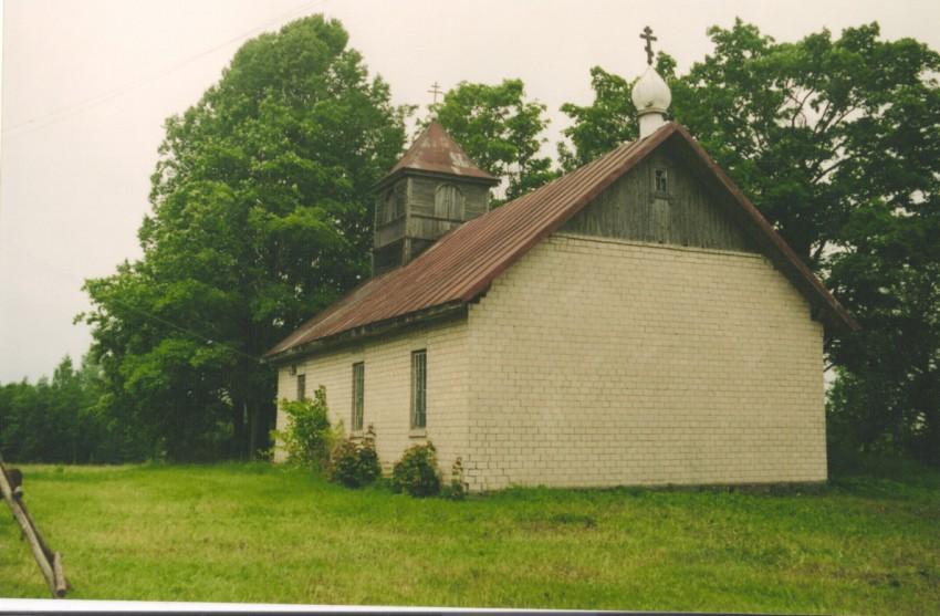 Латвия, Аглонский край, Стародворье. Неизвестная старообрядческая моленная, фотография. общий вид в ландшафте