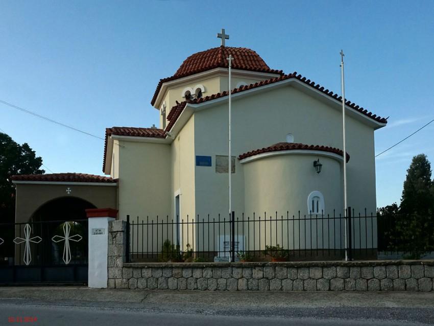 Греция, Пелопоннес (Πελοπόννησος), Магула. Церковь Ирины великомученицы, фотография. фасады