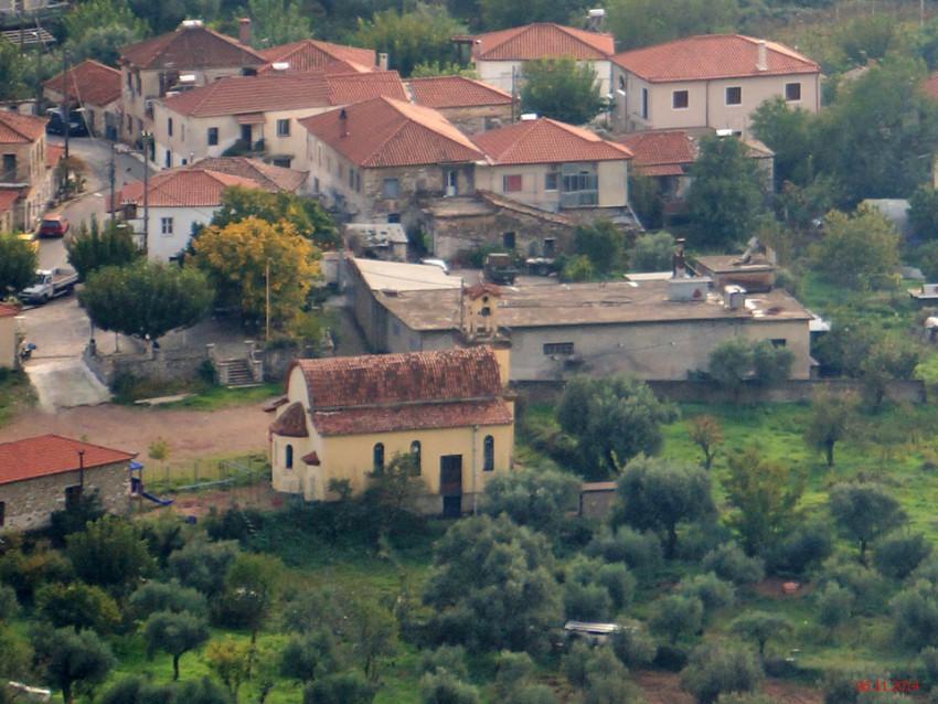 Греция, Пелопоннес (Πελοπόννησος), Арсинои. Церковь Георгия Победоносца, фотография. общий вид в ландшафте