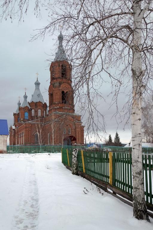 Тамбовская область, Сосновский район, Советское. Церковь Богоявления Господня, фотография. общий вид в ландшафте
