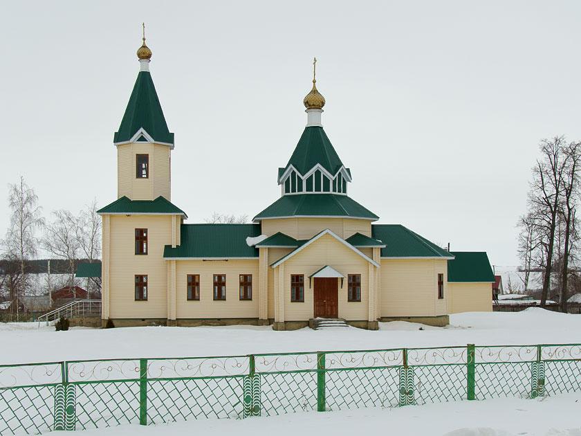 Тамбовская область, Гавриловский район, Пересыпкино 1-е. Церковь Богоявления Господня, фотография. общий вид в ландшафте