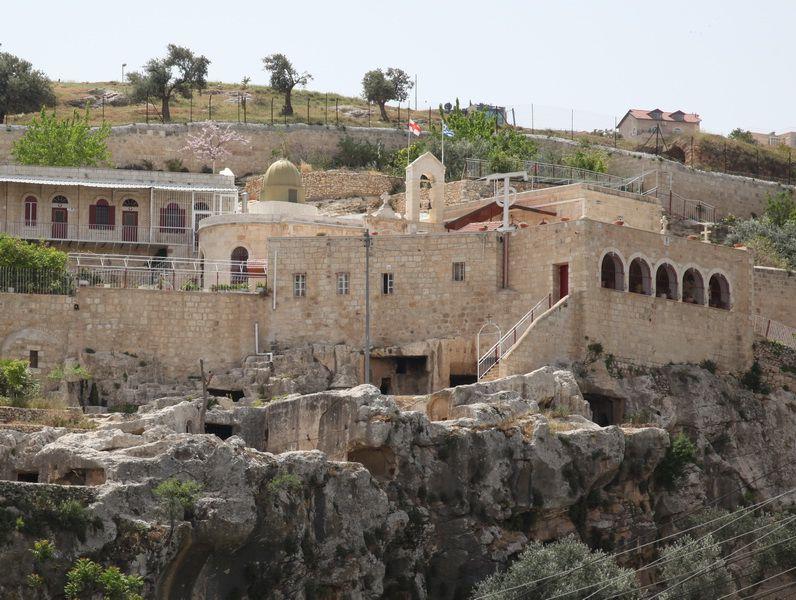 Прочие страны, Израиль, Иерусалим - Новый город. Монастырь Онуфрия Великого, фотография. фасады, Вид монастыря с северной стороны