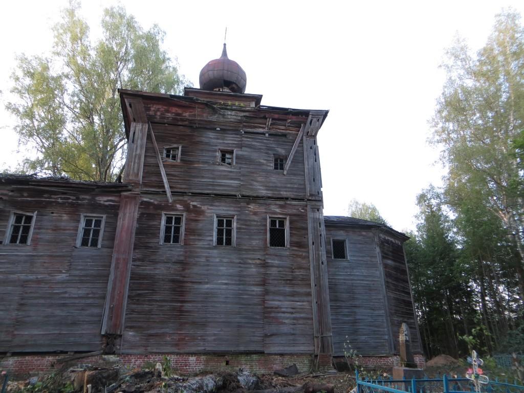 Костромская область, Парфеньевский район, Ефремье (Ефремий Ширь). Церковь Ефрема Сирина, фотография. фасады, южный фасад
