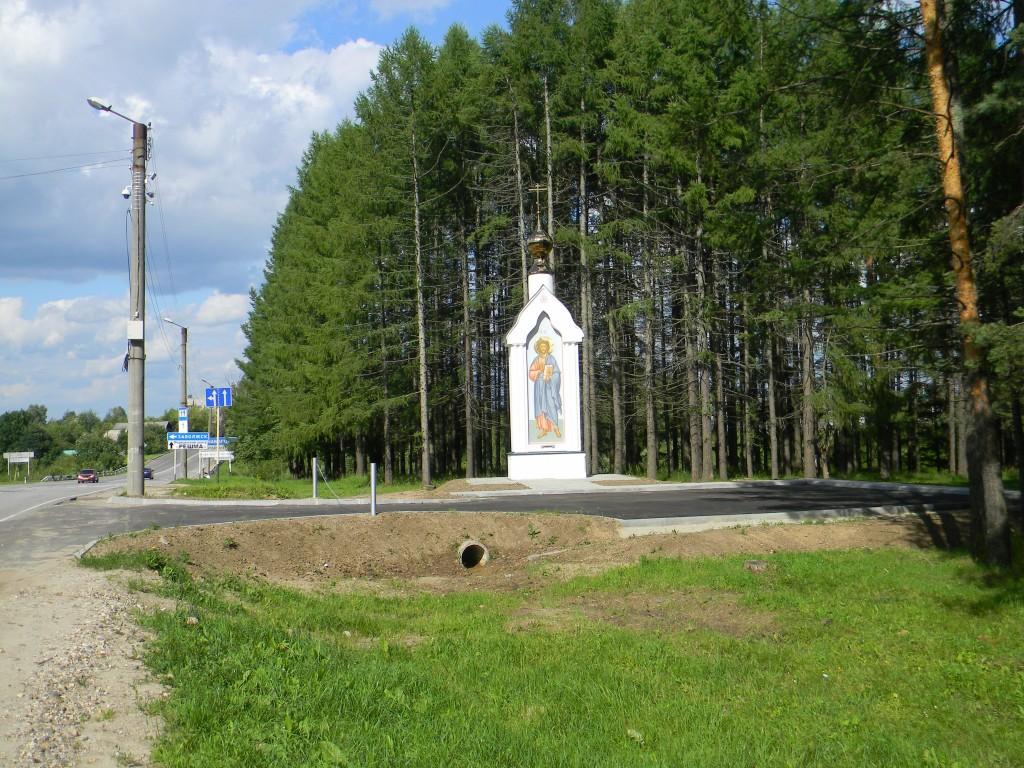 Ивановская область, Кинешемский район, Кинешма. Неизвестная часовня, фотография. общий вид в ландшафте