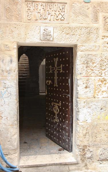 Прочие страны, Израиль, Иерусалим - Старый город. Монастырь Георгия Победоносца, фотография. архитектурные детали, Вход в монастырь