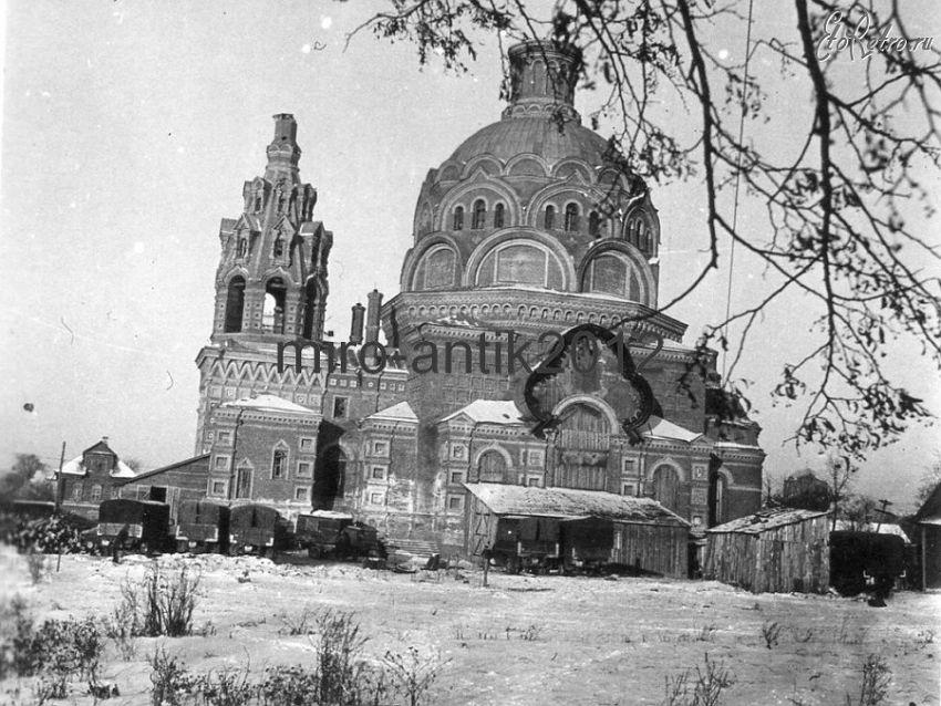 Смоленская область, Сычёвский район, Сычёвка. Церковь Космы и Дамиана, фотография. архивная фотография