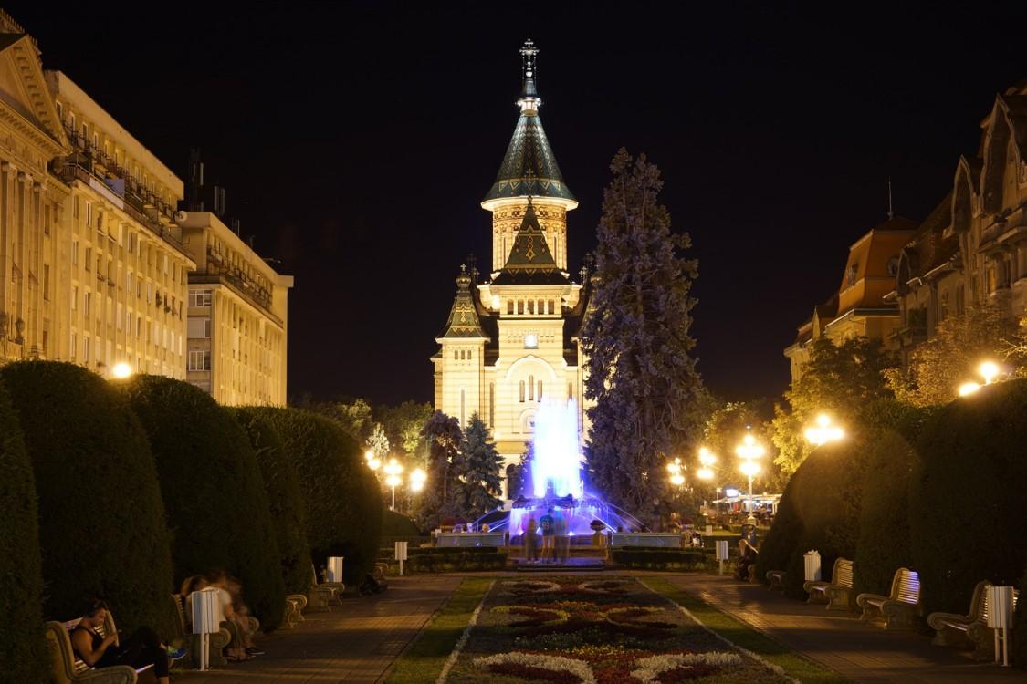 Румыния, Тимиш, Тимишоара. Кафедральный собор Трёх Святителей, фотография. художественные фотографии