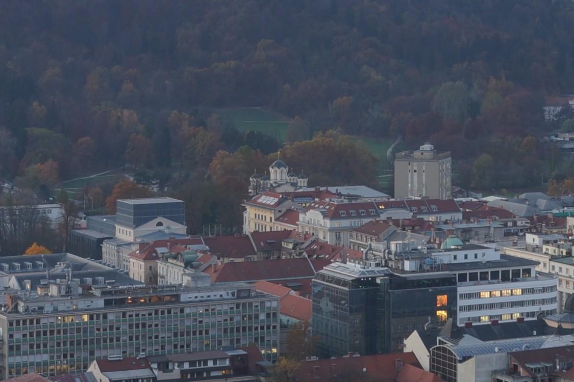 Прочие страны, Словения, Любляна. Церковь Кирилла и Мефодия, фотография. общий вид в ландшафте