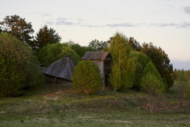 Вологодская область, Вытегорский район, Слобода, урочище. Церковь Георгия Победоносца, фотография. фасады