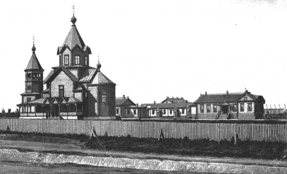 Церковь Спаса Нерукотворного Образа в Борках (старая), Першотравнёвое