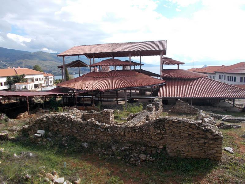 Климентовский монастырь. Раннехристианская базилика, Охрид